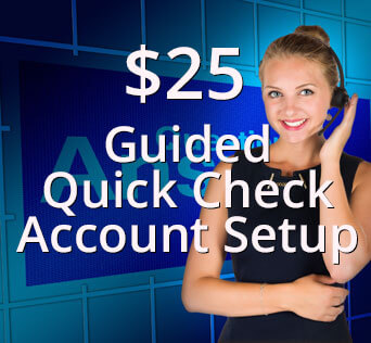 Guided Quick Check Account Setup